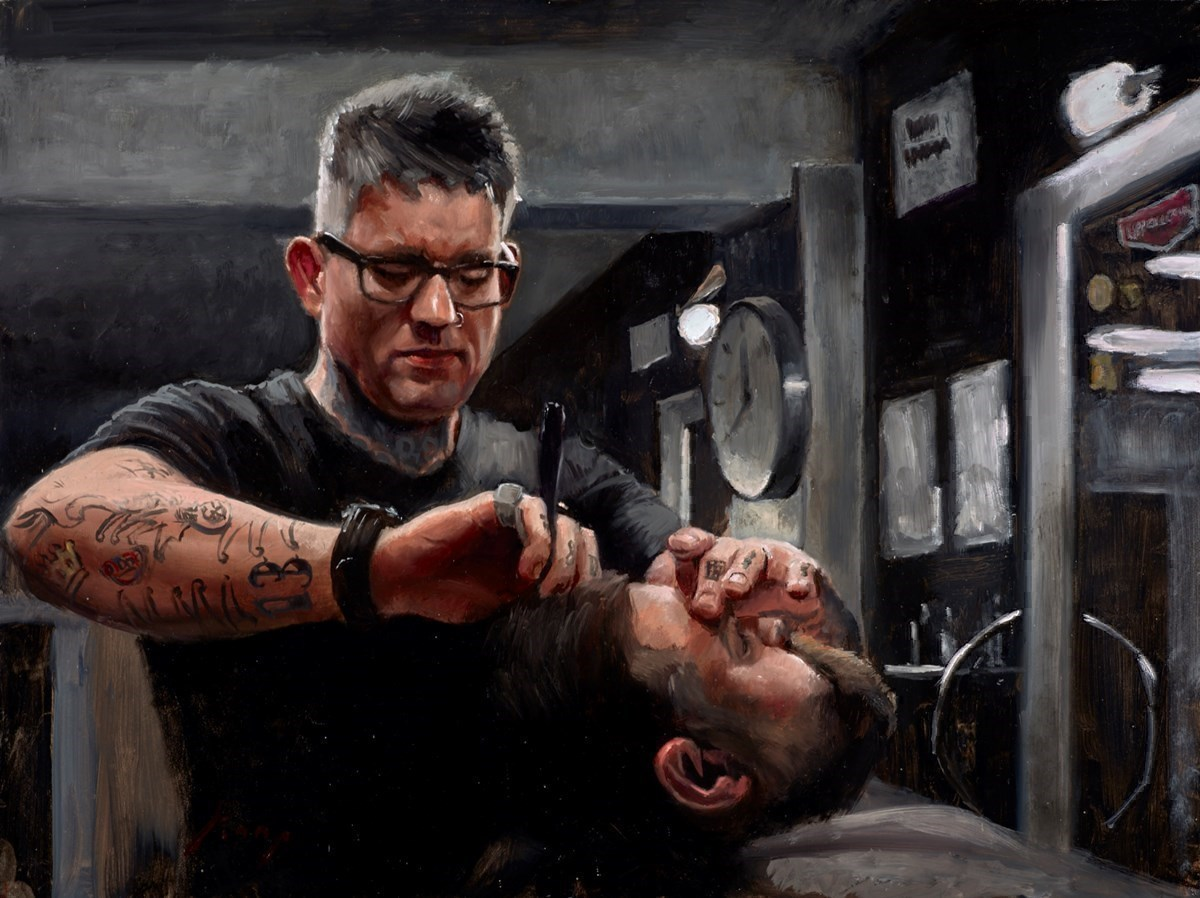 The Shave by Vincent Kamp -  sized 24x18 inches. Available from Whitewall Galleries